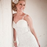Detailed strap wedding dress