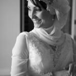 Traditional Muslim wedding veil