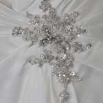 Crystal beading wedding dress
