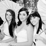 Wedding dress and bride's maids dresses