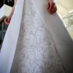 Embroidery wedding dress