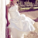 One shoulder wedding dress