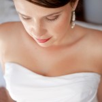 Scooped neck line wedding dress